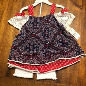 Adorable Western-Style 2-piece Outfit NWT